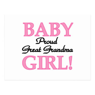 Proud Great Grandma Baby Girl Tshirts and Gifts Post Cards