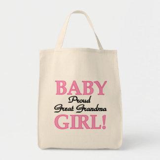 Proud Great Grandma Baby Girl Tshirts and Gifts Tote Bag