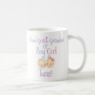 Proud Great Grandma Of Boy Girl Twins Classic White Coffee Mug