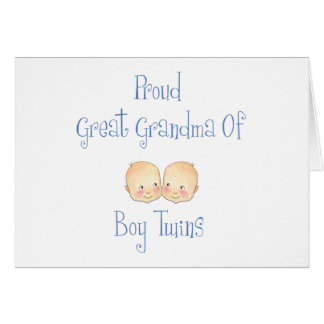 Proud Great Grandma Of Boy Twins Card