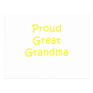 Proud Great Grandma Postcard