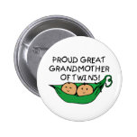 proud Great Grandmother Twin Pod Buttons