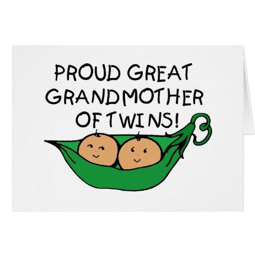 proud Great Grandmother Twin Pod Greeting Card