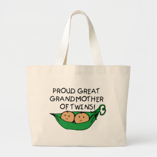 proud Great Grandmother Twin Pod Jumbo Tote Bag