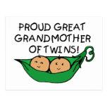 proud Great Grandmother Twin Pod Postcard