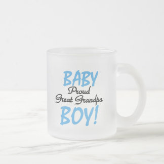 Proud Great Grandpa of Boy Tshirts and Gifts 10 Oz Frosted Glass Coffee Mug