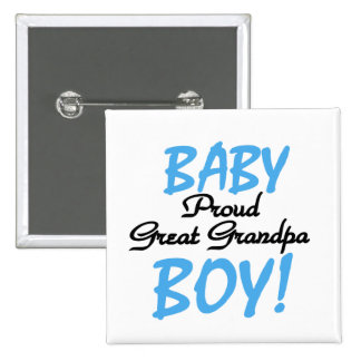 Proud Great Grandpa of Boy Tshirts and Gifts Button