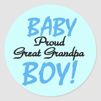 Proud Great Grandpa of Boy Tshirts and Gifts Classic Round Sticker