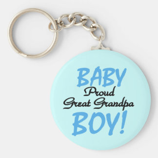 Proud Great Grandpa of Boy Tshirts and Gifts Keychain