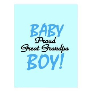 Proud Great Grandpa of Boy Tshirts and Gifts Postcard