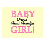 Proud Great Grandpa of Girl T-shirts and Gifts Postcard