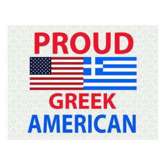 Proud Greek American Postcard