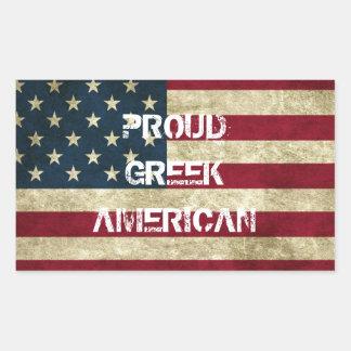 Proud Greek American Sticker