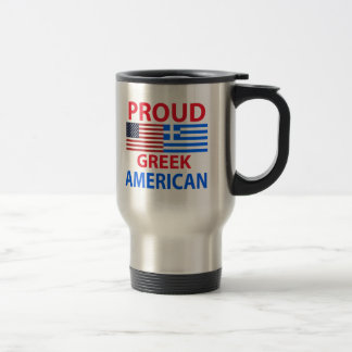 Proud Greek American Travel Mug