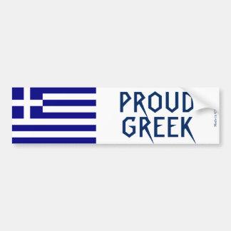 Proud Greek Bumper Sticker