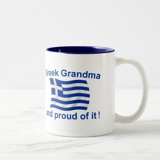 Proud Greek Grandma Two-Tone Coffee Mug