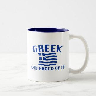 Proud Greek Two-Tone Coffee Mug