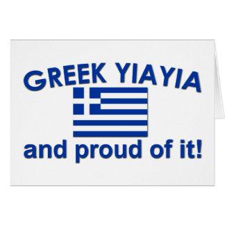 Proud Greek Yia Yia Greeting Card