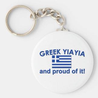 Proud Greek Yia Yia Key Chains
