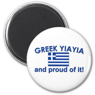 Proud Greek Yia Yia Fridge Magnet