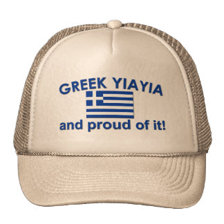 Proud Greek Yia Yia Trucker Hat