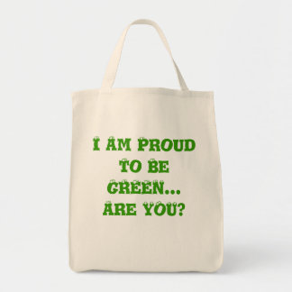 Proud Green Grocery Tote Bag