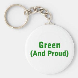 Proud Green Keychain