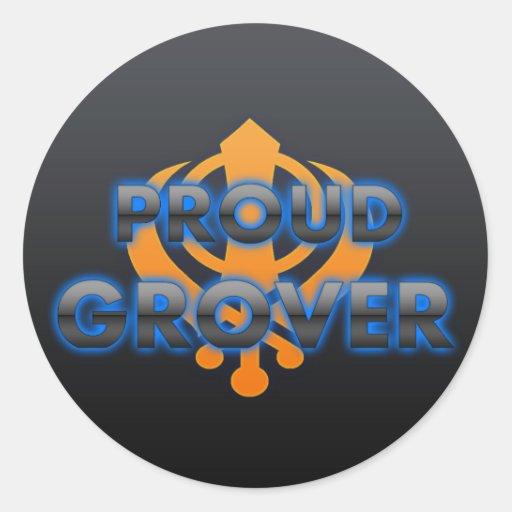 Proud Grover, Grover pride Classic Round Sticker