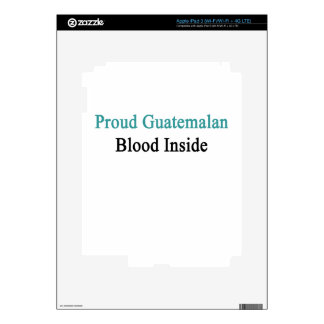 Proud Guatemalan Blood Inside iPad 3 Skin