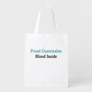 Proud Guatemalan Blood Inside Reusable Grocery Bags