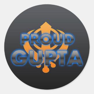 Proud Gupta, Gupta pride Classic Round Sticker
