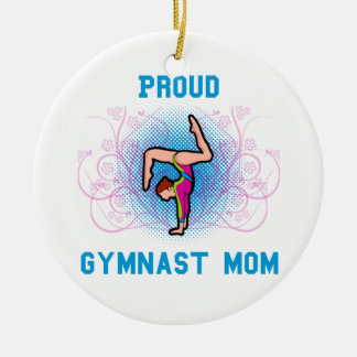 Proud Gymnast Mom Ceramic Ornament
