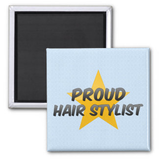 Proud Hair Stylist 2 Inch Square Magnet