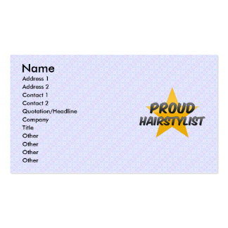 Proud Hairstylist Double-Sided Standard Business Cards (Pack Of 100)