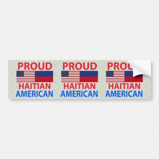Proud Haitian American Bumper Stickers