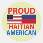 Proud Haitian American Round Sticker