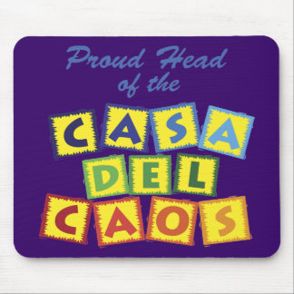 Proud Head of the Casa del Caos Mouse Pad