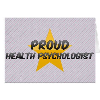 Proud Health Psychologist Greeting Card
