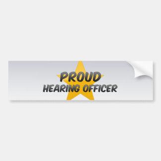 Proud Hearing Officer Car Bumper Sticker