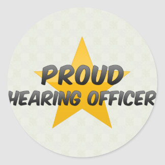 Proud Hearing Officer Classic Round Sticker