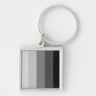 Proud Heterosexual Silver-Colored Square Keychain