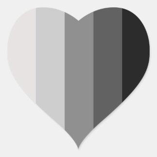 Proud Heterosexual Heart Sticker