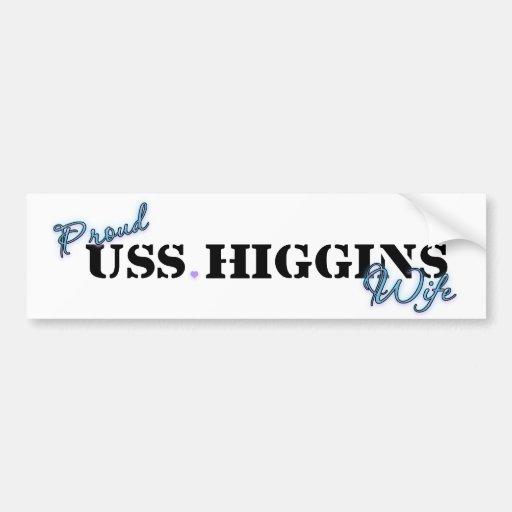 Proud Higgins Wife Bumper Stickers