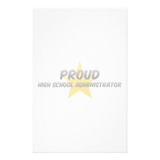 Proud High School Administrator Stationery Paper