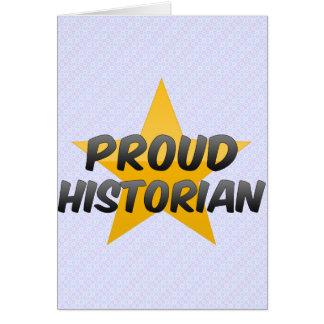 Proud Historian Greeting Card