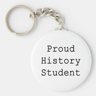 Proud History Student Basic Round Button Keychain