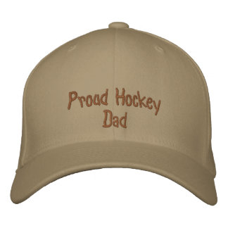 Proud Hockey Dad Embroidered Baseball Cap