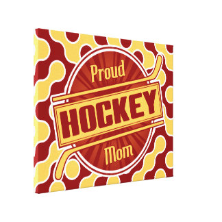 Proud Hockey Mom Box Canvas