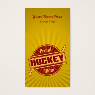 Proud Hockey Mom Customizable Business Cards