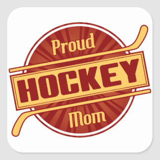 Proud Hockey Mom Square Sticker